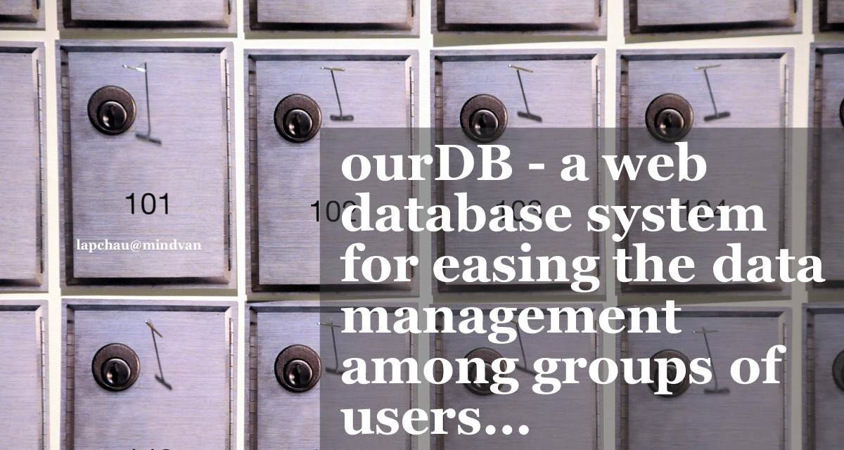 ourDB - an agile app/database design platform